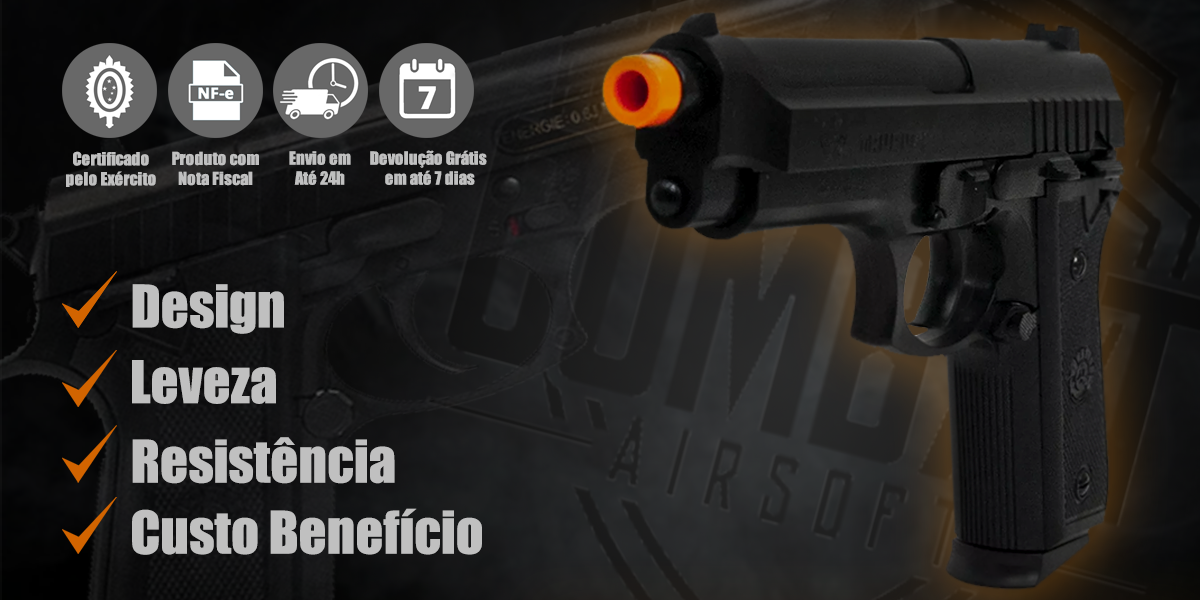 Pistola de Airsoft Spring Taurus PT92 Cybergun