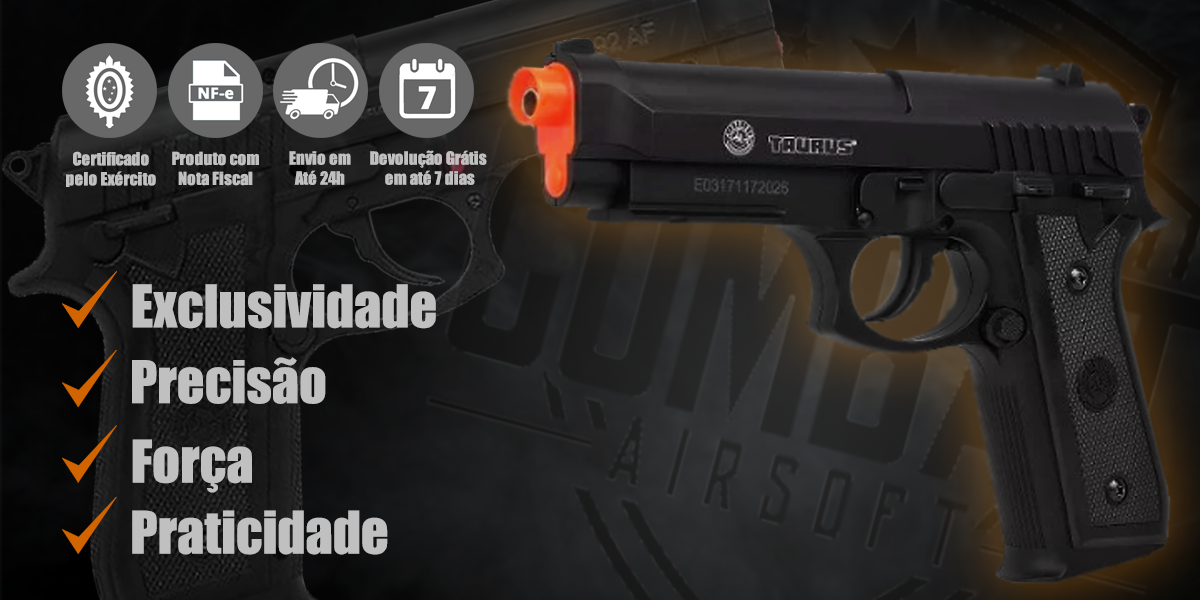 Pistola de Airsoft CO2 Taurus PT92 Cybergun