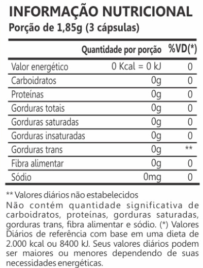 tabela nutricional maca peruana maxinutri