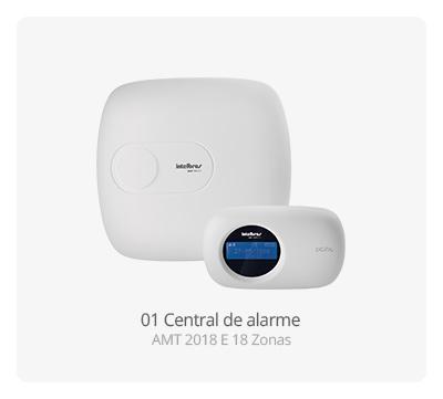 Central de alarme AMT 2018 E Intelbras 18 Zonas