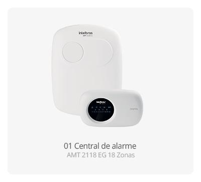 Central de alarme AMT 2118 EG Intelbras 18 Zonas