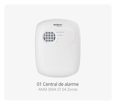 Central de alarme ANM 3004 ST Intelbras 04 Zonas