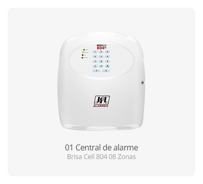 Central de alarme Brisa Cell 804 08 Zonas JFL