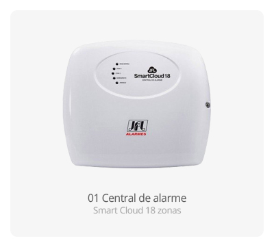 Central de alarme Smart Cloud 18 Zonas JFL