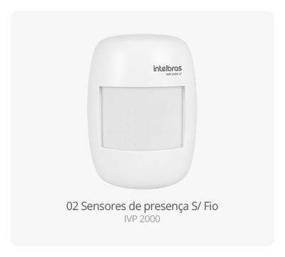 Sensor de presença S/ Fio IVP 2000 Intelbras