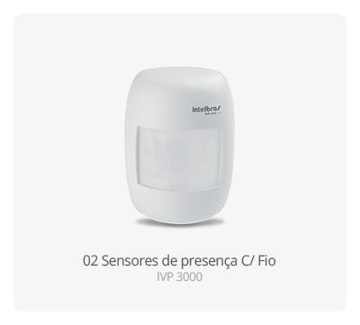 Sensor de presença C/ Fio IVP 3000 Intelbras