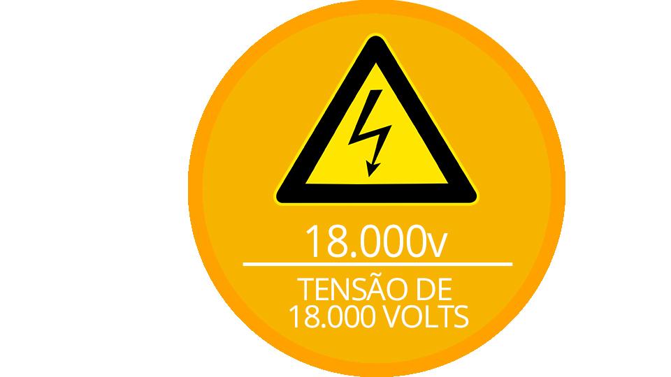 Alta voltagem da central ECR 18 JFL