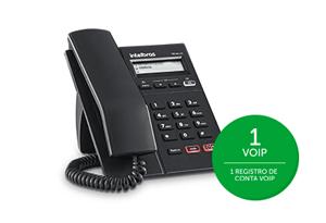 1 conta VoIP com o TIP 125 Lite Intelbras