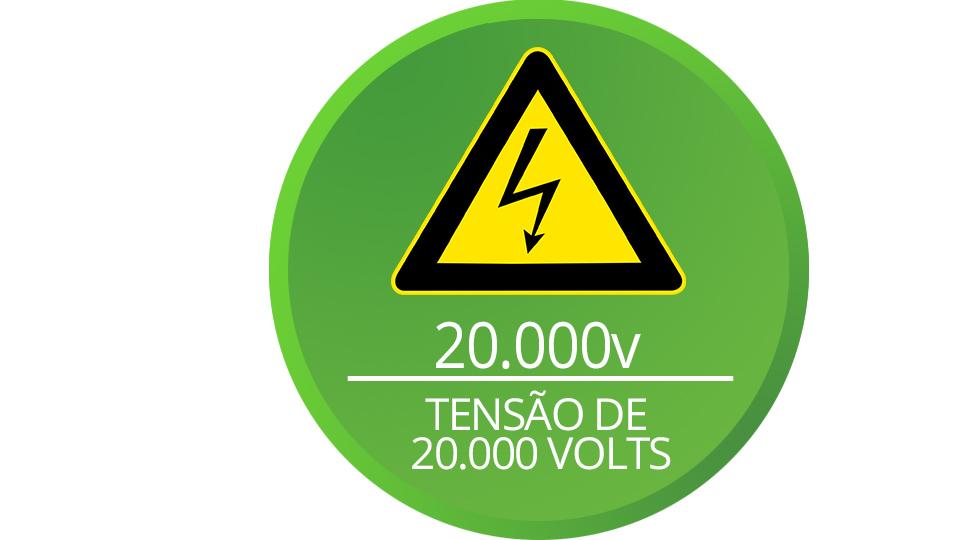 Alta voltagem da central ELC 5002 Intelbras