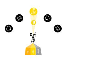 3ª geração do protocolo iPoll do Rádio Outdoor CPE/PTP APC 5A-20 5 GHz com 20 dbi MiMo 2x2 Intelbras