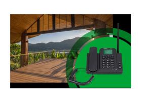 3x mais sinal com o Telefone Celular Fixo Intelbras com Wi-Fi 3G CFW 8031