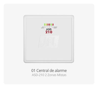 Central de alarme Active 20 Ethernet 22 Zonas JFL