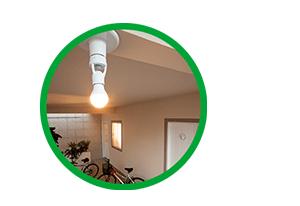 Acende e apaga a luz automaticamente Sensor de presença para iluminação para Soquete E27 ESP 360 S Intelbras