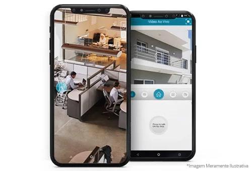 Acesso das imagens via internet - Aplicativo, Software VMS ou Navegador Web