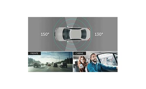 Câmera Veicular Intelbras Full HD Duo DC 3201 1080p com Microfone com Amplo ângulo de visão