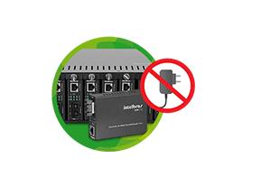 Alimentação unificada com o Chassi para Conversor de Mídia Intelbras KX 1400 R com 14 Portas para Rack 19