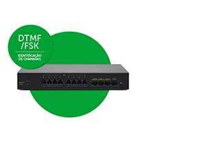 Amplie possibilidades Gateway de voz Intelbras 8 Portas GW 208 S