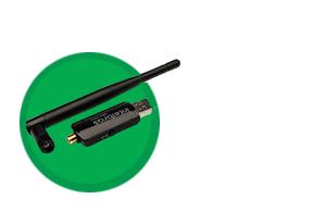 Antena removível do Adaptador USB wireless com antena externa IWA 3001 Intelbras