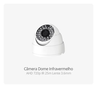 Câmeras Dome Infravermelho AHD 720p IR 25m