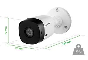 Dimensões e peso da Câmera VHL 1120 Bullet Intelbras