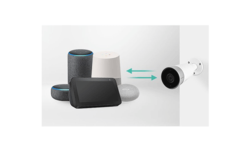 Compatível com Amazon Alexa e Google Home Assistant com a Câmera Intelbras WiFi Full HD iM5 1080p, IR 30m