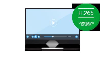 Compressão de vídeo H.265 do MHDX 3108 Intelbras