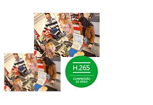 Compressão de vídeo H.265 com o DVR Intelbras Ultra HD 8 canais MHDX 5208 Multi HD 4K