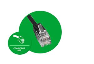 Conector do tipo RJ9 do Cordão inteligente USB QDU 20 Intelbras