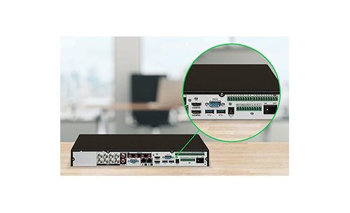 Conte com mais entradas de alarme e saídas de vídeo HDMI com a DVR Intelbras Ultra HD 8 canais iMHDX 5008 Multi HD 4K Inteligência Artificial