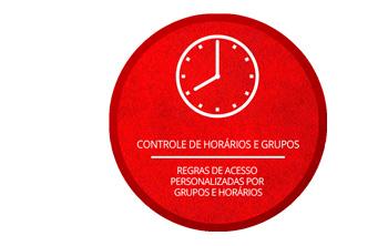 Controle de horários e grupos da ID Access