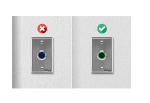 Cores do LED indicam se a porta está fechada ou aberta Acionador de Abertura Infravermelho Intelbras BT 4000