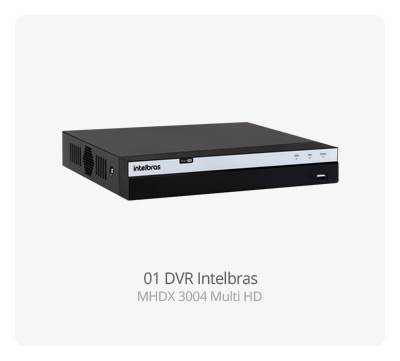 DVR Intelbras MHDX 3004 MultiHD FULL HD