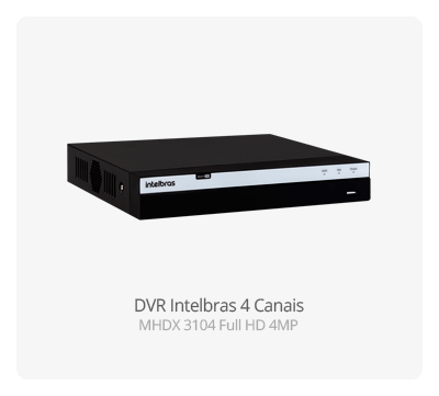 DVR Intelbras Full HD 4 Canais MHDX 3104 Intelbras