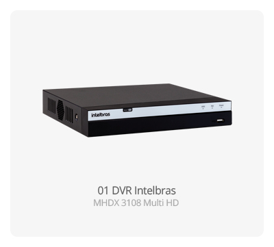 DVR Intelbras MHDX 3108 MultiHD FULL HD