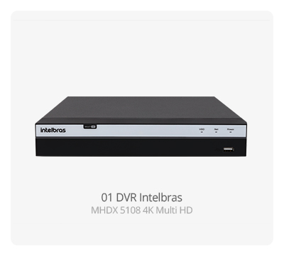 DVR Intelbras MHDX 5108 MultiHD