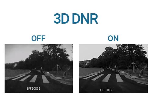 Diferença de qualidade com a tecnologia 3D DNR com a Câmera Hikvision IP Varifocal Full HD DS-2CD2743G0-IZS 4MP IR 30m PoE IP67