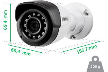 Dimensões e peso da VMH 1220 B Intelbras