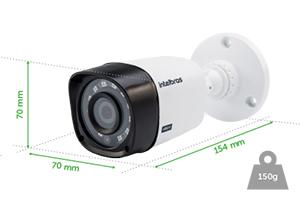 Dimensões e peso da Câmera VHD 1120 Bullet Intelbras