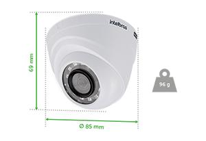 Dimensões e peso da Câmera VHD 1120 Dome Intelbras
