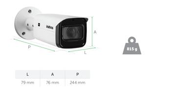 Dimensões da Câmera VIP 3260 Z Intelbras