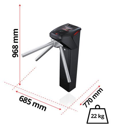 Dimensões e peso da iDBlock