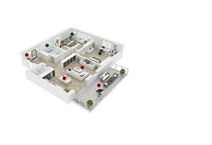 Divisão por ambientes da Teclado sem fio para Centrais Intelbras XAT 8000