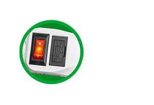 Dupla proteção contra queima de equipamentos Filtro de Linha Intelbras 4 Tomadas EPE 1004