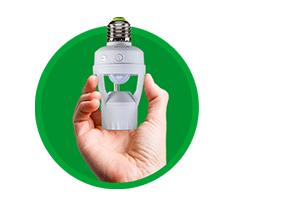 Fácil de instalar Sensor de presença para iluminação para Soquete E27 ESP 360 S Intelbras
