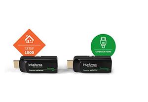 Facilidade nas instalações a longas distâncias com o Extensor HDMI Alcance até 50m Intelbras VEX 1050 HDMI