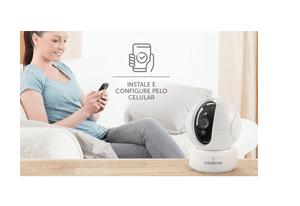 Fácil instalação com a Câmera Intelbras Wi-Fi HD iC4 720p 360º IR 10m