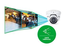Fácil instalação com a lente varifocal da Câmera Intelbras IP HD VIP 1130 D VF G2 720P