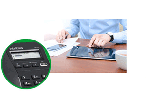 Facilite a rotina com o Display blacklight e a função Viva-voz