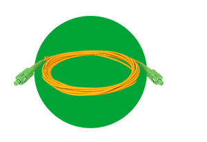 Fibra com baixa sensibilidade à curvatura com o Cordão Óptico Intelbras SC/UPC - SC/APC - 2,0mm 3M - XFC 12