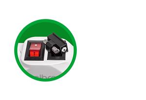Acompanha fusível reserva Filtro de Linha Intelbras 4 Tomadas EPE 1004